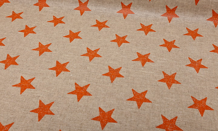 Retro Stars Nature Orange - Matt