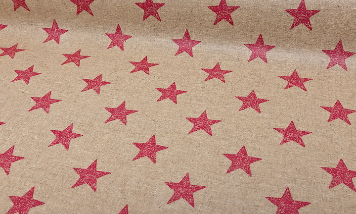 Retro Stars Nature Pink - Matt