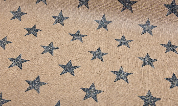 Retro Stars Nature Navy - Matt