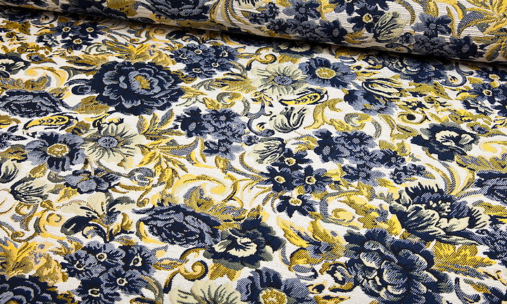 Jacquard - Lodovici Navy Yellow