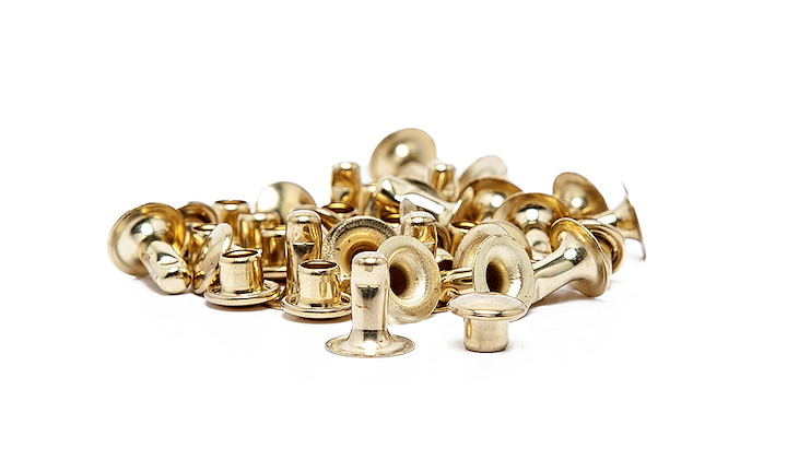 Hohlnieten 7 mm Gold
