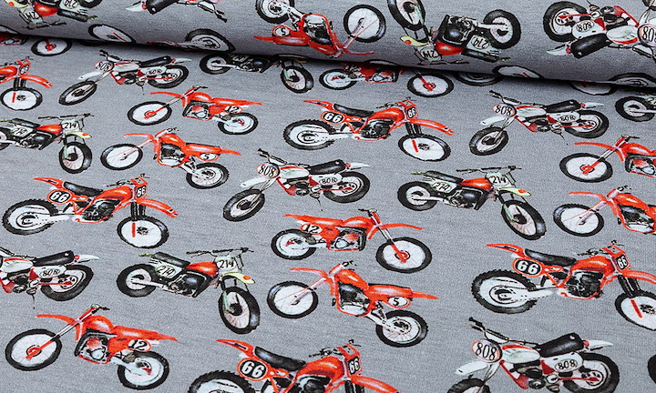 Jersey Mud Motorcycle Grau