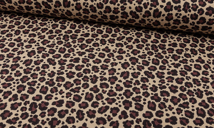 Jersey Leoprint Taupe