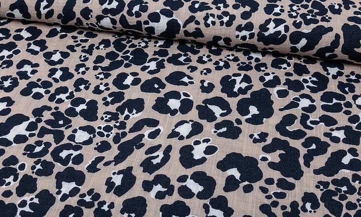 Rayon - Leopard Sand